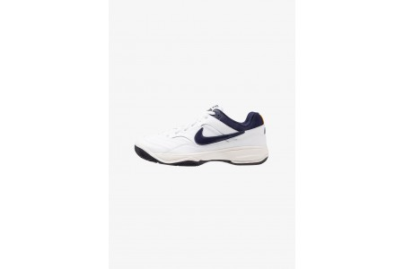 Nike COURT LITE - Baskets tout terrain white/blackened blue/phantom/orange peel pas cher