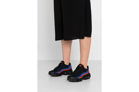 Nike AIR MAX 95 - Baskets basses black/habanero red/racer blue pas cher