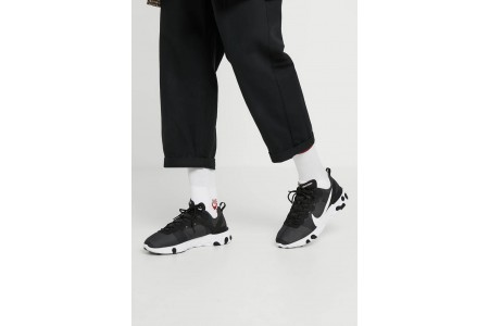 Black Friday 2020 | Nike REACT 55 - Baskets basses black/white pas cher