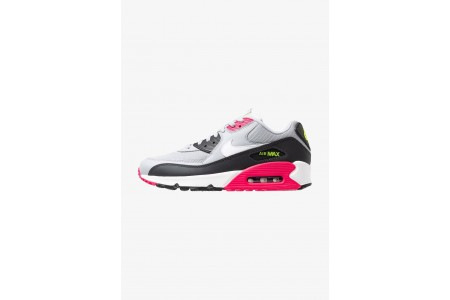 Nike AIR MAX 90 ESSENTIAL - Baskets basses wolf grey/white/rush pink/volt/anthracite/black pas cher