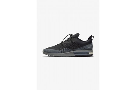 Nike AIR MAX SEQUENT 4 UTILITY - Chaussures de running neutres black/dark grey/metallic silver pas cher