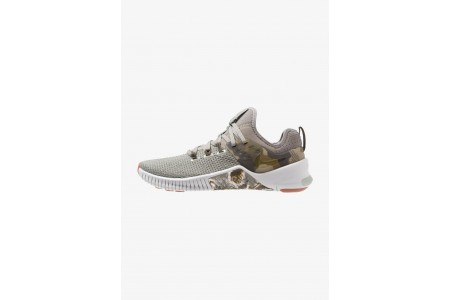 Nike FREE METCON - Chaussures d'entraînement et de fitness dark stucco/olive/light silver/medium brown pas cher