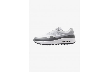 Nike AIR MAX 1 - Chaussures de golf pure platinum/white/wolf grey/cool grey/anthracite pas cher