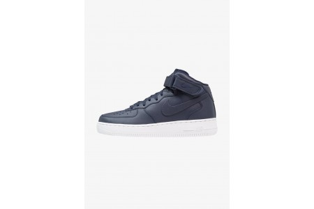 Nike AIR FORCE 1 MID '07 - Baskets montantes obsidian/white pas cher