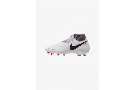Nike PHANTOM OBRA 3 PRO DF FG - Chaussures de foot à crampons pure platinum/metallic dark grey/wolf grey/light crimson/cool grey/metallic silver pas cher