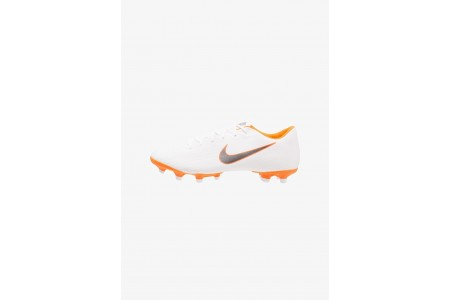 Nike MERCURIAL VAPOR 12 ACADEMY MG - Chaussures de foot à crampons white/chrome/total orange pas cher