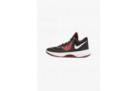 Nike AIR PRECISION II - Chaussures de basket black/white/university red pas cher