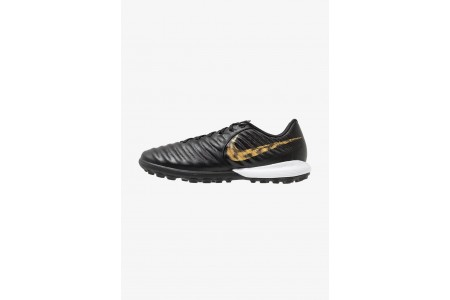 Black Friday 2020 | Nike TIEMPO LUNAR LEGENDX 7 PRO TF - Chaussures de foot multicrampons black/metallic vivid gold pas cher