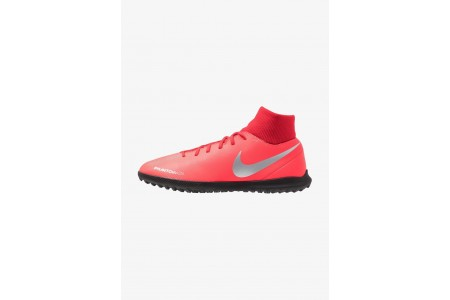 Nike PHANTOM OBRAX 3 CLUB DF TF - Chaussures de foot multicrampons bright crimson/metallic silver/university red/black pas cher
