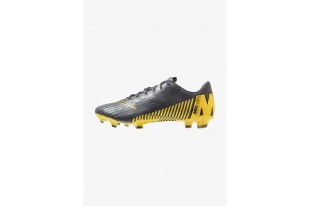 Nike MERCURIAL VAPOR 12 PRO FG - Chaussures de foot à crampons dark grey/black/opti yellow pas cher