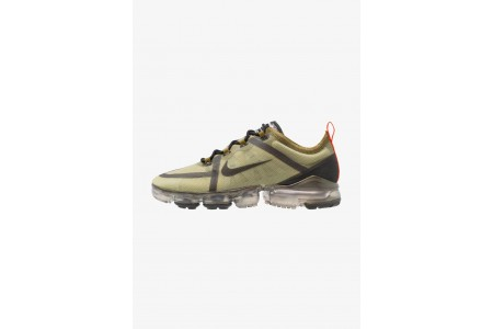 Nike AIR VAPORMAX 2019 - Chaussures de running neutres olive flak/black/medium olive/team orange pas cher
