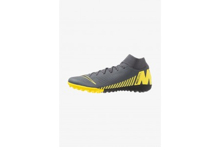 Nike MERCURIAL SUPERFLYX 6 ACADEMY TF - Chaussures de foot multicrampons dark grey/black/opti yellow pas cher