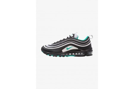 Black Friday 2020 | Nike AIR MAX 97 - Baskets basses black/clear emerald/white pas cher