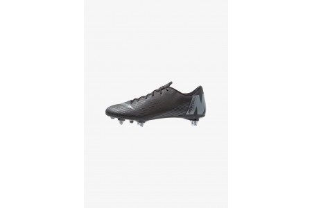 Nike MERCURIAL VAPOR 12 ACADEMY SG PRO - Chaussures de foot à lamelles black/anthracite/light crimson pas cher