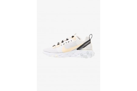 Nike REACT 55 - Baskets basses white/pale vanilla/black/pale ivory pas cher