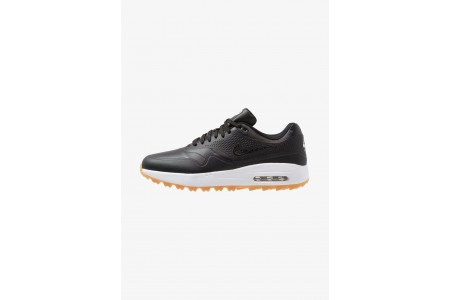 Nike AIR MAX 1 - Chaussures de golf black/light brown pas cher