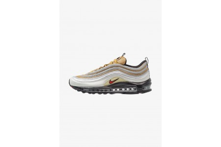 Nike AIR MAX 97 SSL - Baskets basses metallic silver/university red pas cher