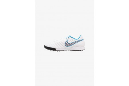 Nike LEGENDX 7 ACADEMY TF - Chaussures de foot multicrampons white/chrome/blue hero pas cher