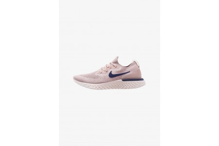 Nike EPIC REACT FLYKNIT - Chaussures de running neutres diffused taupe/blue void/phantom/crimson tint pas cher