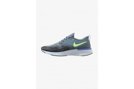 Black Friday 2020 | Nike ODYSSEY REACT 2 FLYKNIT - Chaussures de running neutres armory blue/black/half blue/lime blast/leche blue pas cher