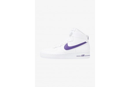 Nike AIR FORCE 1 '07 3 - Baskets montantes white/court purple pas cher