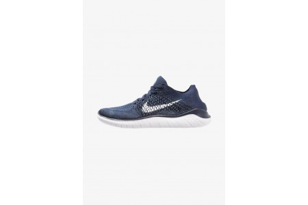 Nike FREE RUN FLYKNIT 2018 - Chaussures de course neutres college navy/white/squadron blue pas cher