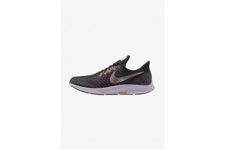 Nike AIR ZOOM PEGASUS 35 - Chaussures de running neutres black/metallic pewter/gridiron/peat moss/provence purple pas cher