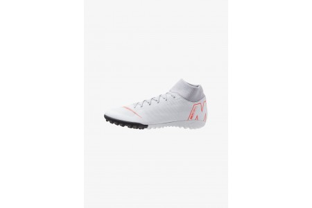Nike MERCURIAL SUPERFLYX 6 ACADEMY TF - Chaussures de foot multicrampons wolf grey/light crimson/pure platinum/metallic silver pas cher