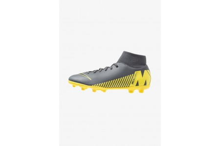 Nike MERCURIAL 6 CLUB MG - Chaussures de foot à crampons dark grey/black/opti yellow pas cher