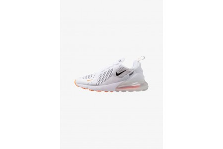 Black Friday 2020 | Nike AIR MAX 270 - Baskets basses white/black/total orange pas cher
