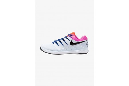 Nike AIR ZOOM VAPOR X CLAY - Chaussures de tennis sur terre battue half blue/black/white/laser fuchsia/bright crimson/indigo force pas cher