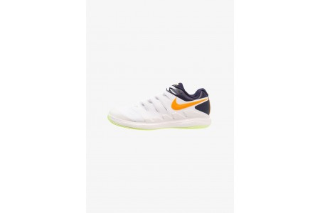 Nike AIR ZOOM VAPOR X CLAY - Chaussures de tennis sur terre battue phantom/orange peel/blackened blue/white/volt glow pas cher