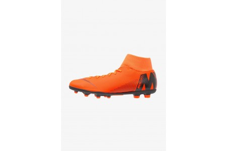 Nike MERCURIAL 6 CLUB MG - Chaussures de foot à crampons total orange/white/volt/black pas cher