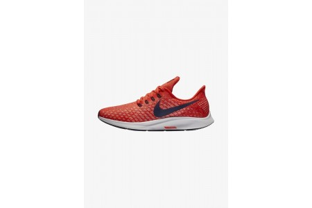 Nike AIR ZOOM PEGASUS 35 - Chaussures de running neutres habanero red/vast grey/dune red/blackened blue pas cher