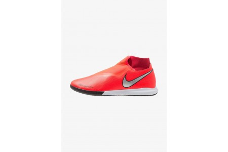 Nike PHANTOM OBRAX 3 ACADEMY DF IC - Chaussures de foot en salle bright crimson/metallic silver/university red/black pas cher