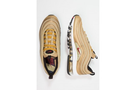 Nike AIR MAX 97 QS (GS) - Baskets basses metallic gold/varsity red/black/white pas cher