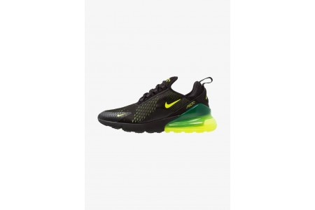 Black Friday 2020 | Nike AIR MAX 270 - Baskets basses black/volt/oil grey pas cher