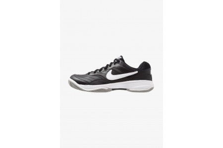 Nike COURT LITE CLAY - Chaussures de tennis sur terre battue black/white/medium grey pas cher