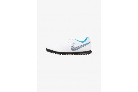 Black Friday 2020 | Nike TIEMPO LEGENDX 7 CLUB TF - Chaussures de foot multicrampons white/chrome/blue hero pas cher