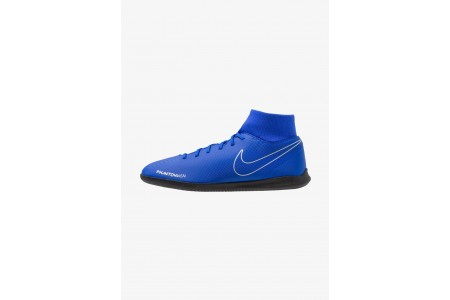 Black Friday 2020 | Nike PHANTOM OBRAX 3 CLUB DF IC - Chaussures de foot en salle racer blue/black/metallic silver/volt pas cher