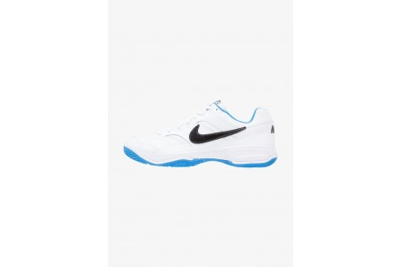 Nike COURT LITE - Baskets tout terrain white/black/light photo blue pas cher