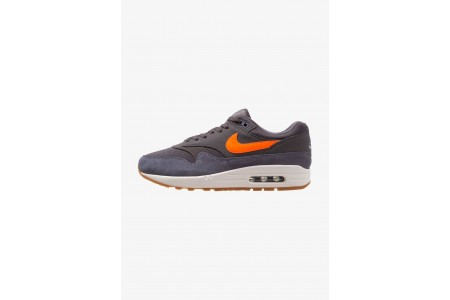 Black Friday 2020 | Nike AIR MAX 1 - Baskets basses thunder grey/total orange/light carbon/white/medium brown pas cher