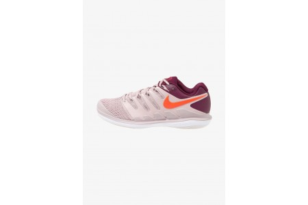 Nike AIR ZOOM VAPOR X HC - Baskets tout terrain particle rose/bright crimson/bordeaux pas cher