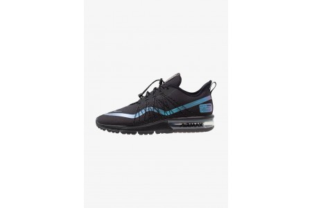 Nike AIR MAX SEQUENT 4 UTILITY - Chaussures de running neutres black/racer blue/thunder grey/metallic silver pas cher