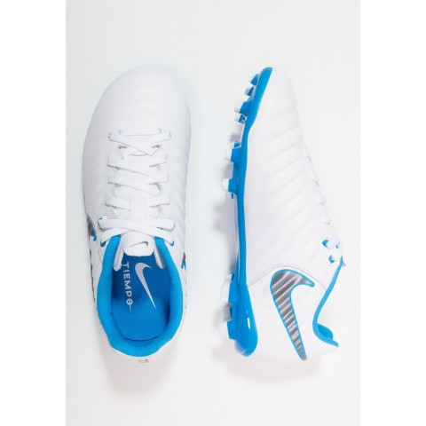 Nike LEGEND 7 ACADEMY FG - Chaussures de foot à crampons white/chrome/blue hero/chrome/blue hero pas cher