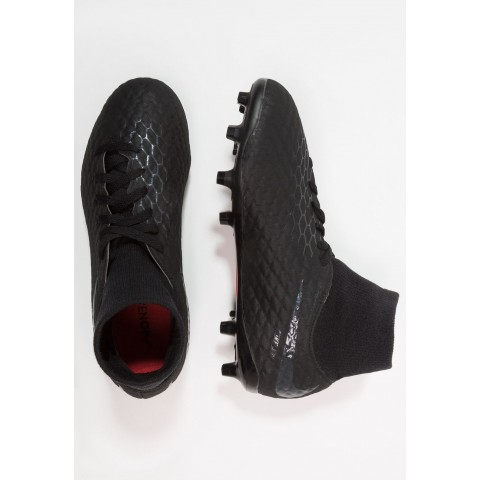 Nike PHANTOM 3 ACADEMY DF FG - Chaussures de foot à crampons black/light crimson pas cher