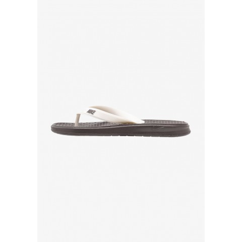 Nike SOLAY THONG - Tongs thunder grey/pale ivory pas cher