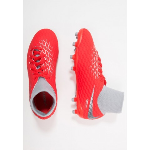 Nike PHANTOM 3 ACADEMY DF FG - Chaussures de foot à crampons light crimson/metallic dark grey/wolf grey/metallic silver pas cher