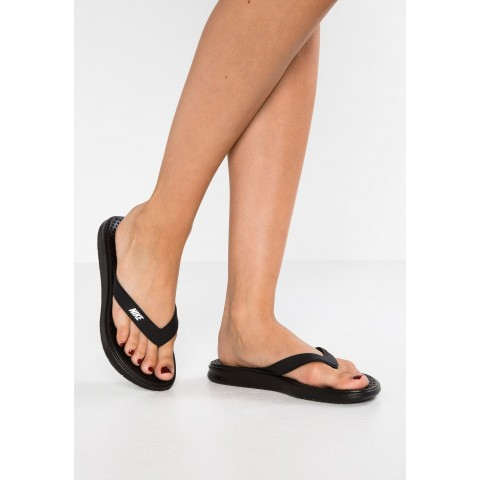 Nike SOLAY THONG - Tongs black/white pas cher