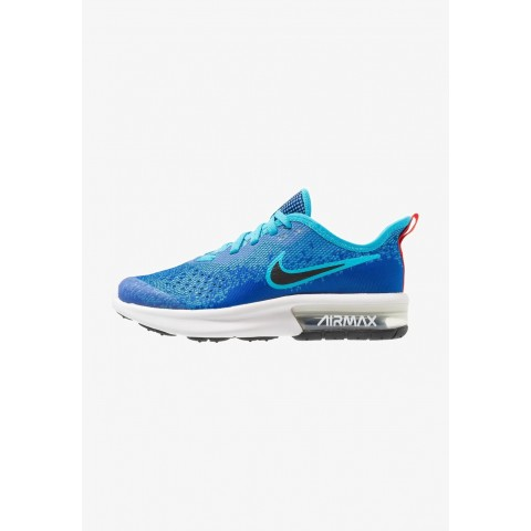 Nike AIR MAX SEQUENT 4 - Chaussures de running neutres indigo force/black/light blue fury/habanero red pas cher